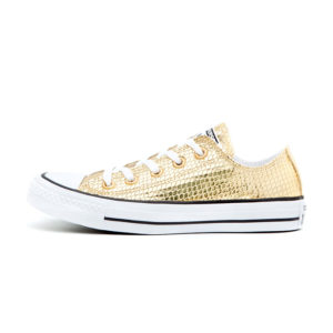 Zapatilla Converse Chuck Taylor All Star Metallic Scaled Leather Gold Black White