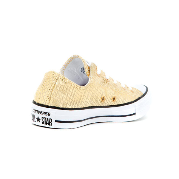 Sneaker Converse Chuck Taylor All Star Metallic Scaled Leather Gold Black White