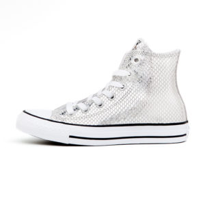 Zapatilla Converse Chuck Taylor All Star Metallic Scaled Leather Silver Black White