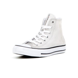 Senaker Converse Chuck Taylor All Star Metallic Scaled Leather Silver Black White