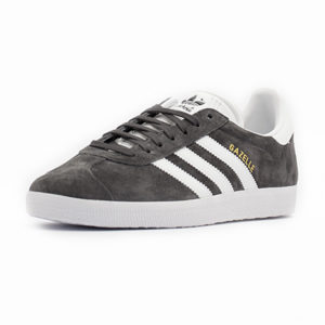 Calzado Adidas Gazelle Dark Grey Heather Solid Grey White Gold Metallic