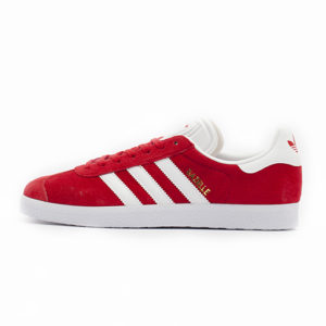 Zapatilla Adidas Gazelle Scarlet Footwear White Gold Metallic