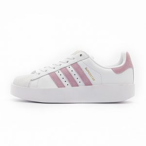 Zapatilla Adidas Superstar Bold Platform Footwear White Wonder Pink Gold Metalic
