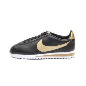 Zapatilla Nike Classic Cortez Leather Black Metallic Gold
