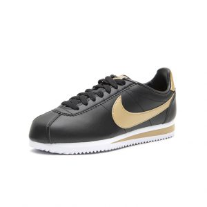 Sneaker Nike Classic Cortez Leather Black Metallic Gold