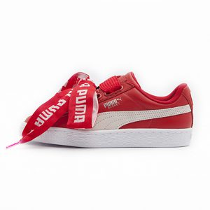 Zapatilla Puma Basket Heart DE Toreador Puma White