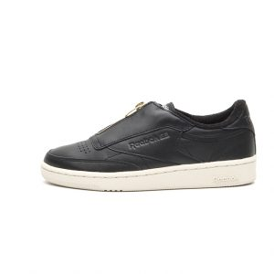 Zapatilla Reebok Club C 85 Zip Black Sleek Met Paper White Coal Chalk
