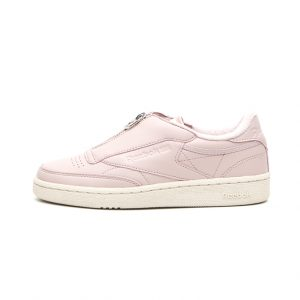 Zapatilla Reebok Club C 85 Zip Shell Pink Paper White Met Silver Chalk
