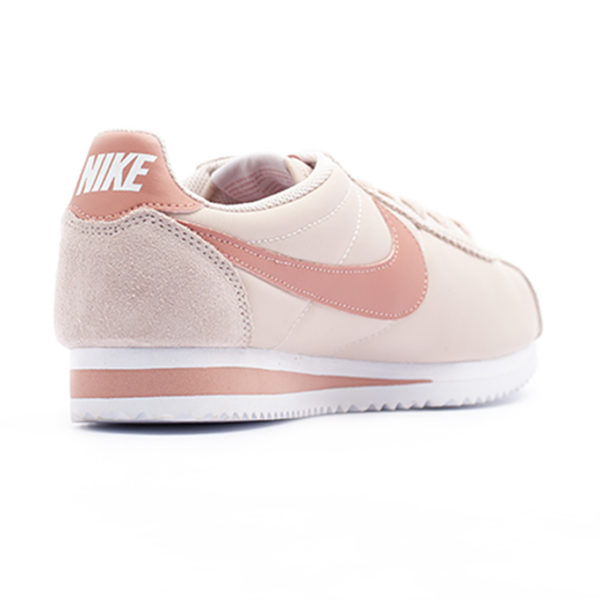 Bamba Nike Classic Cortez Nylon Siltstone Red White Red Stardust