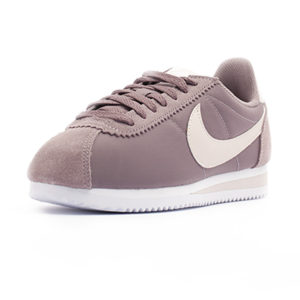 Sneaker Nike Classic Cortez Nylon Taupe Grey White Siltstone Red