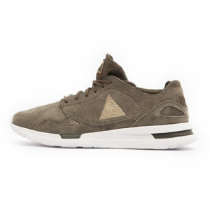 Zapatilla Le Coq Sportif LCS R Flow W Suede Satin Olive Night