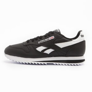 Zapatilla Reebok Classic Leather Ripple Low Black White