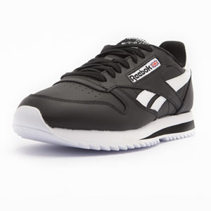 Sneaker Reebok Classic Leather Ripple Low Black White
