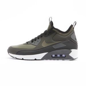 Zapatilla Nike Air Max 90 Ultra Mid Winter Sequoia Black Dark Grey Medium Olive
