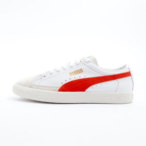 Zapatilla Puma Basket 90680 White Orange