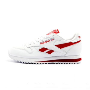 Zapatilla Reebok Classic Leather Ripple Low BR White Excellent Red