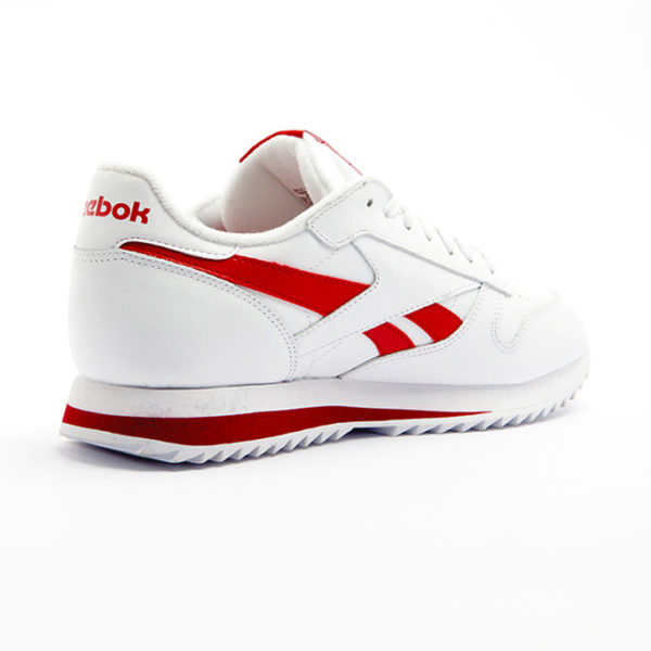 Bamba Reebok Classic Leather Ripple Low BR White Excellent Red