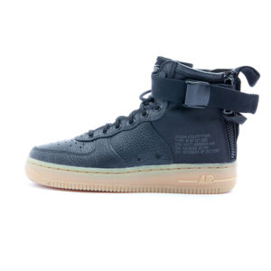 Zapatilla Nike SF AF 1 Mid Black Black Gum Light Brown