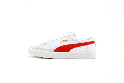 Zapatilla Puma Basket 9068 Puma White Orange