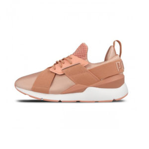 Zapatilla Puma Muse Satin EP Peach Beige Puma White
