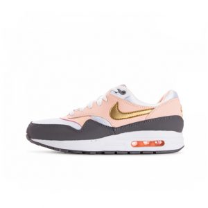Zapatilla Nike Air Max 1 White Metallic Gold Gunsmoke