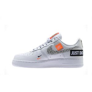 Zapatilla Nike Air Force 1 ´07 Premium JDI White White Black Total Orange
