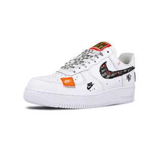Sneaker Nike Air Force 1 ´07 Premium JDI White White Black Total Orange