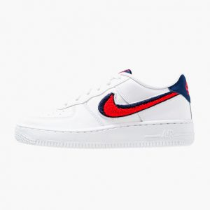 Zapatilla Nike Air Force 1 '07 LV8 White University Red Blue Void