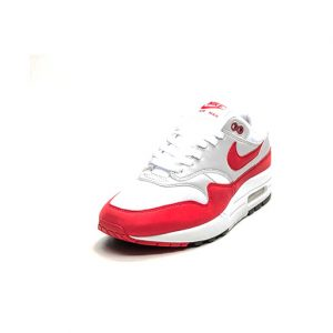 Sneaker Nike Air Max 1 Anniversary White University Red Neutral Grey Black