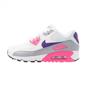 Zapatilla Nike Wmns Air Max 90 White Court Purple Wolf Grey