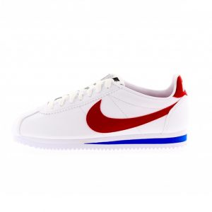 Zapatilla Nike Wmns Classic Cortez Leather White Varisity Red