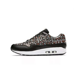 Zapatilla Nike Air Max 1 Premium Black White Total Orange
