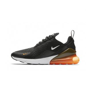 Zapatilla Nike Air Max 270 Black White Total Orange