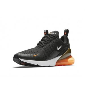 Sneaker Nike Air Max 270 Black White Total Orange
