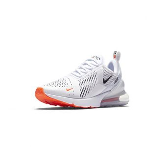 Sneaker Nike Air Max 270 White Black Total Orange