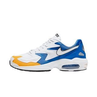 Zapatilla Nike Air Max2 Light Premium White White University Gold Game Royal