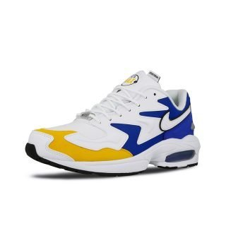 Snekaer Nike Air Max2 Light Premium White White University Gold Game Royal