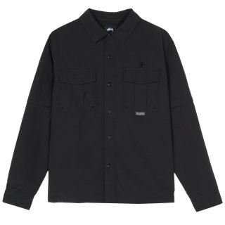 Shirt Stüssy Convertible Utility Shirt Black 1110090
