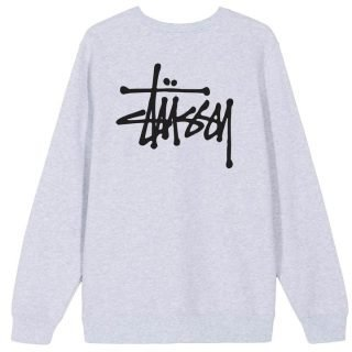 Sweatshirt Stüssy Basic Crew Ash Heather
