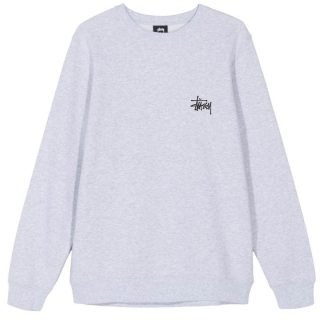 Sudadera Stüssy Basic Crew Ash Heather