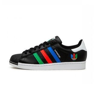 Zapatilla Adidas Superstar Core Black Green Cloud White