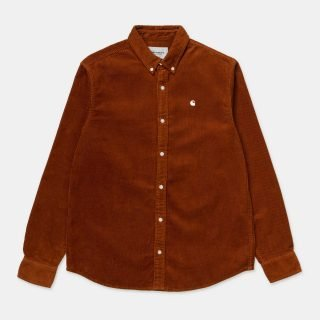 Camisa Carhartt Wip L S Madison Cord Shirt Brandy Wax