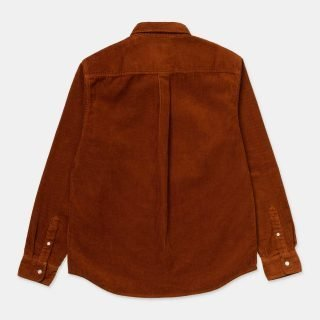 Shirt Carhartt Wip L S Madison Cord Shirt Brandy Wax
