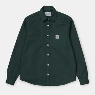 Camisa Carhartt Wip L S Tony Shirt Dark Teal Rigid