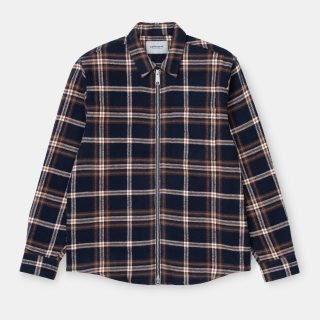Camisa Carhartt Wip L/S Bryan Shirt Check Dark Navy Blacksmith
