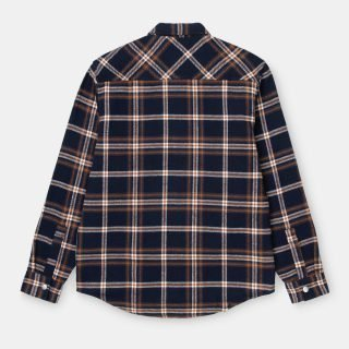 Shirt Carhartt Wip L/S Bryan Shirt Check Dark Navy Blacksmith
