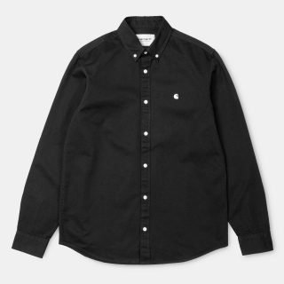Camisa Carhartt Wip L/S Madison Shirt Black Wax