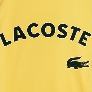 Camiseta Lacoste LIVE Manga Corta Oversized Crocodile Print Yellow TH1332