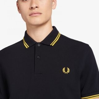 Polo Fred Perry Shirt Black Bright Yellow Bright Yellow M3600