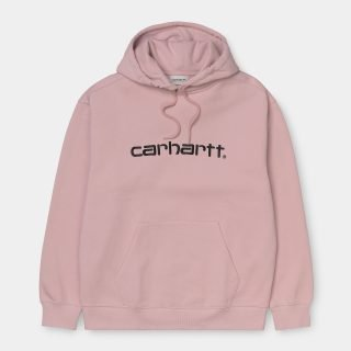 Sudadera Carhartt Wip W´Hooded Sweatshirt Frosted Pink Black